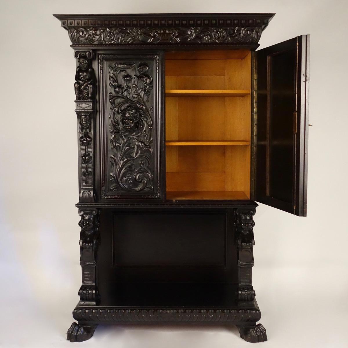 Carved Cabinet Paul De Grande Antique