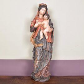 Flemish Madonna with child, 17th C - Haute Epoque