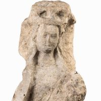 15th Century Normandie 15th c. Limestone Virgin and Child