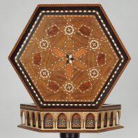 Oriental marquetrie table
