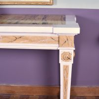 painted wood and marble topped side table, 1900