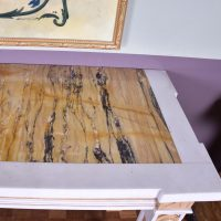 painted wood and marble topped side table – circa 1900