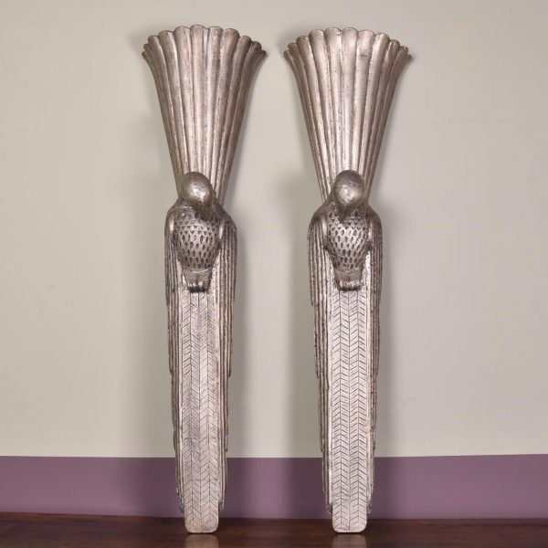 Pair of sconces, circa 1900 - Birds
