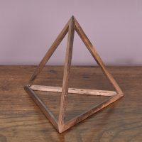 wooden triangle prisma