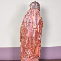 Haute epoque – Wooden Sculpture of a Saint Eveque