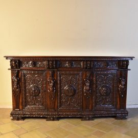 Italian walnut dresser, 18th century
