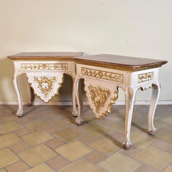 pair of 18th century Italian console tables
