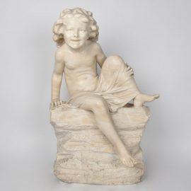 19th century white carrara marble sculpture