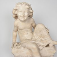 19th century white carrara marble sculpture