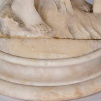 Carrara marble sculpture, Signed Moreau A.