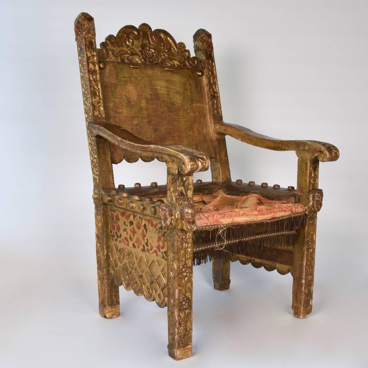 16th century mexican chair paul de grande antique. Black Bedroom Furniture Sets. Home Design Ideas