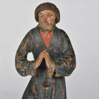 Paire of Flemish oak figures, end of 16th century