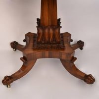 Regency rosewood tea table
