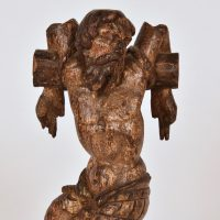 16th C sculpture of Dismas