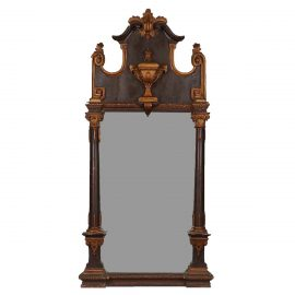 Baltic mirror end of 19th century, carved wood