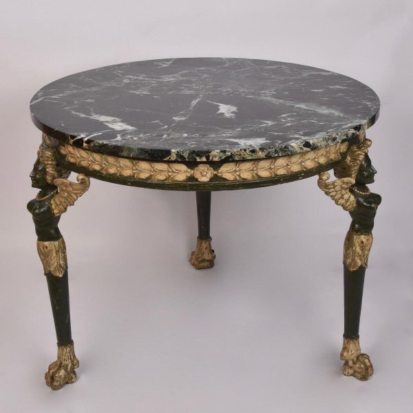 Classical style marble top gueridon