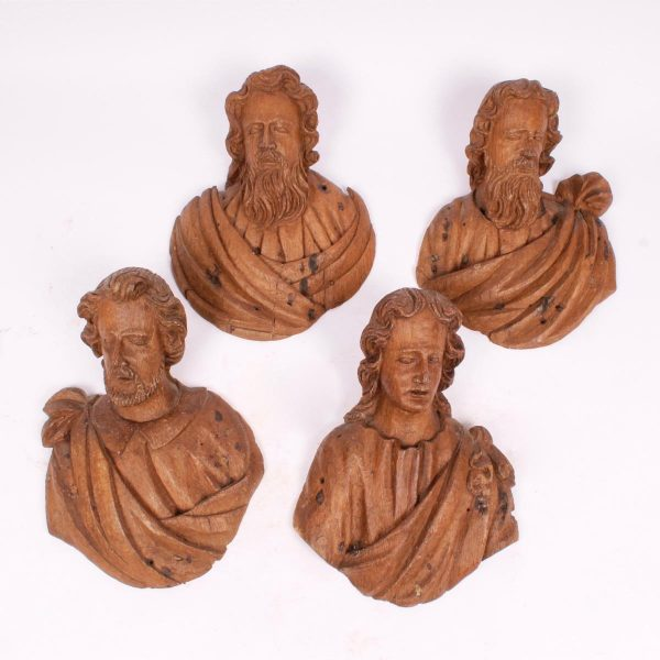 4 Flemish oak 17th century Apostles