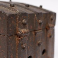 Original 17th century iron coffer