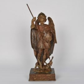 17th century St. Michael original polychrome