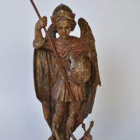 17th C St. Michael original polychrome