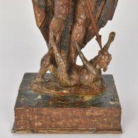 St. Michael original polychrome 17th C