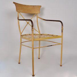 Set of 4 iron armchairs