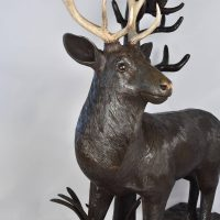 Balck Forest Carved Wood of a Deer