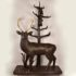 Balck Forest Carved Wood of a Deer with bears