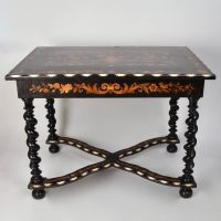 Italian 19th Century marquetry Table Antique
