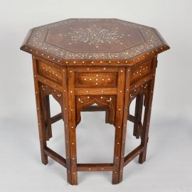 Antique Oriental bone inlaid table
