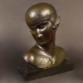 BRONS BUST OF A GIRL