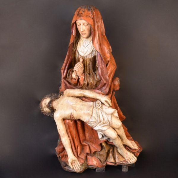 Haute epoque Pieta, Flemish circa 1500