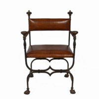 forged-iron-chairs-leather-upholstery1