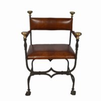 forged-iron-chairs-leather-upholstery2