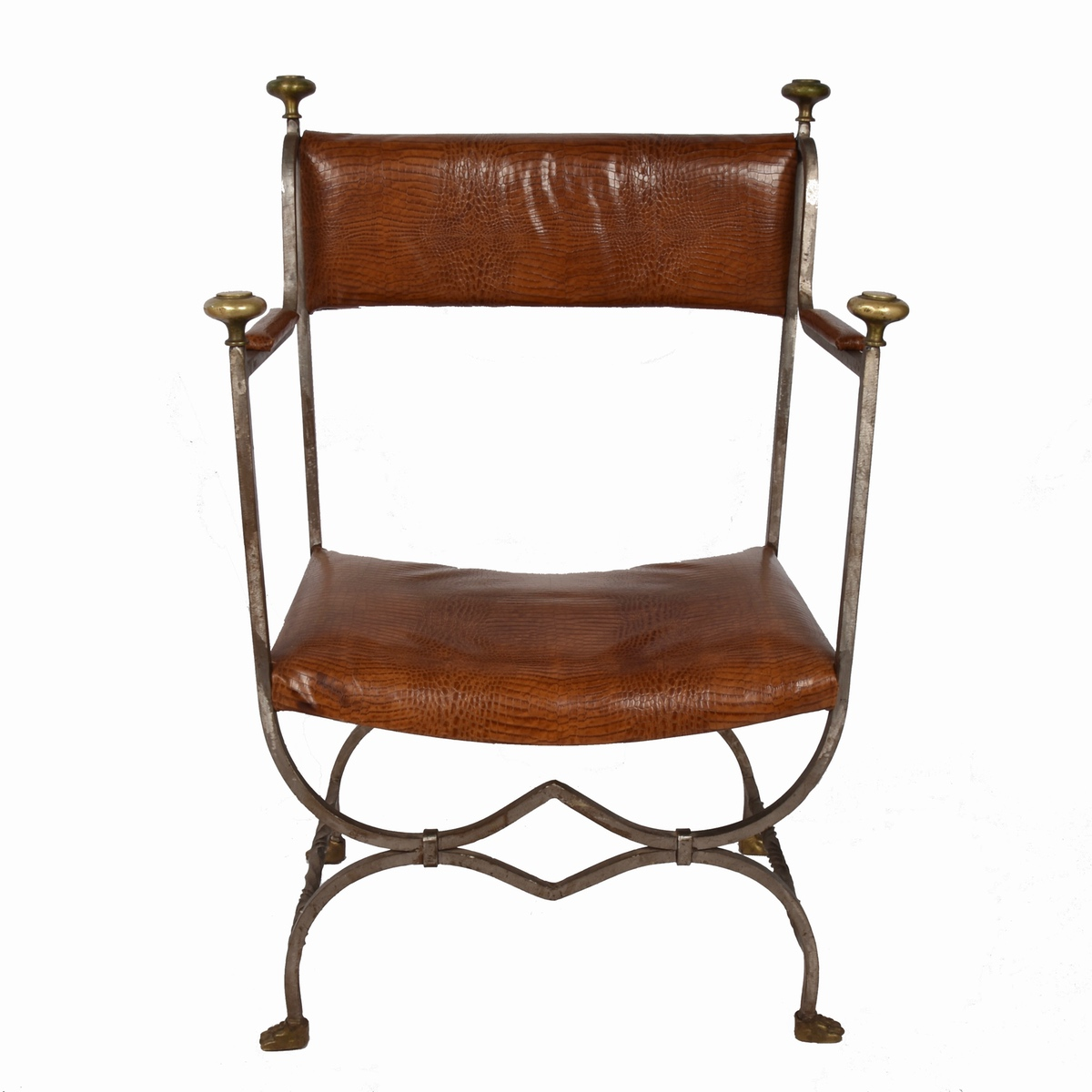 3 Forged Iron Chairs Paul De Grande Antique