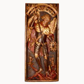 wooden-relier-panel-saint-michel-15th-century-polychrome1