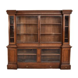 english-breakfront-oak-bookcase1