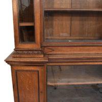 english-breakfront-oak-bookcase2