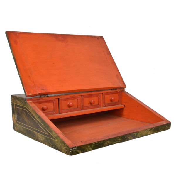 PAINTED WRITING BOX