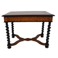 MARQUETRY CENTRE TABLE BARLEY TWIST