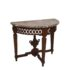 Louis XVI style Console table, sculpted wood with marble top