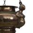 17th century bronze lamp detail