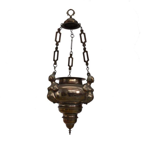 Early bronze pendant lamp