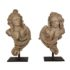 Pair of stone carved angels – ca 1700