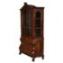 dutch burr walnut display cabinet