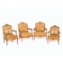 19th Century walnut Louis XV armchairs with wide comfortable seats