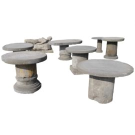 Blue stone garden tables variable sizes