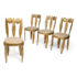 Set of 4 Nicolas BLANDIN chairs