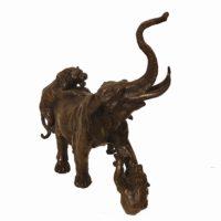 Bronze elephant 38x41x20-E3