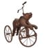 Rare Black Forest hand carved bear tricycle